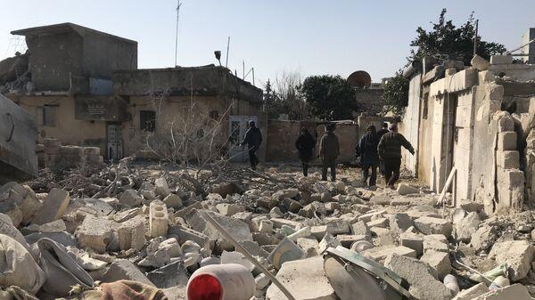 Последствия артобстрелов в Сирии