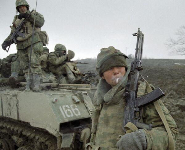 Военные в Чечне