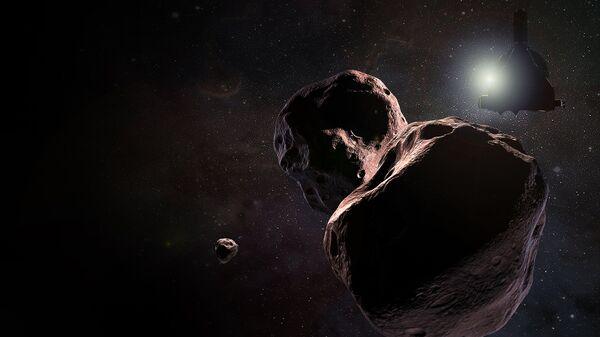 Так художник представил себе зонд New Horizons в окрестностях карликовой планеты 2014 MU69