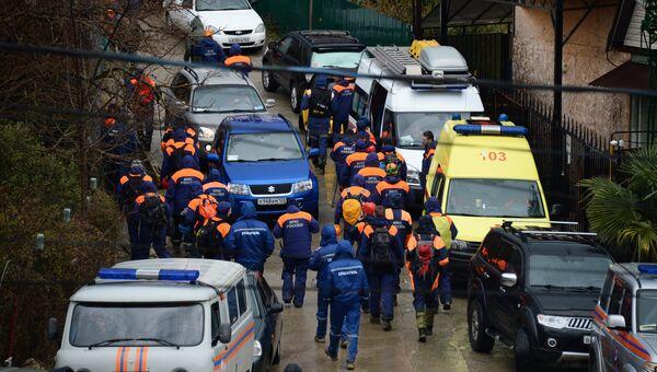Поисковая операция по розыску пропавшей девочки в Сочи