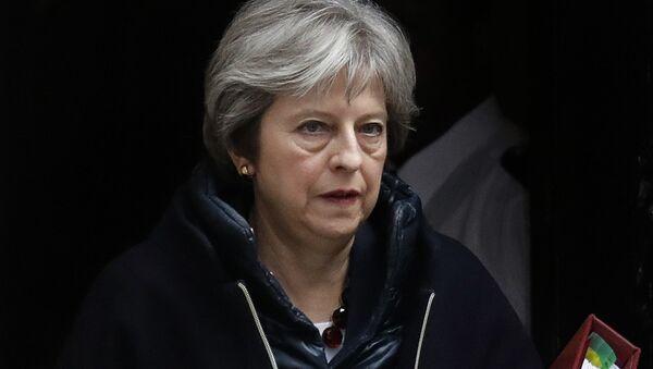 Премьер-министр Великобритании Тереза Мэй перед еженедельной сессией Совета министров в парламенте в Лондоне. 14 марта 2018