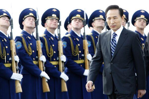 Президент Южной Кореи прибыл в Россию с трехдневным официальным визитом