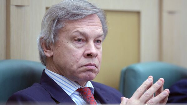 Член комитета Совета Федерации по обороне и безопасности Алексей Пушков. Архивное фото