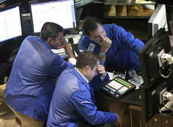 Трейдеры Нью-Йоркской фондовой биржи
