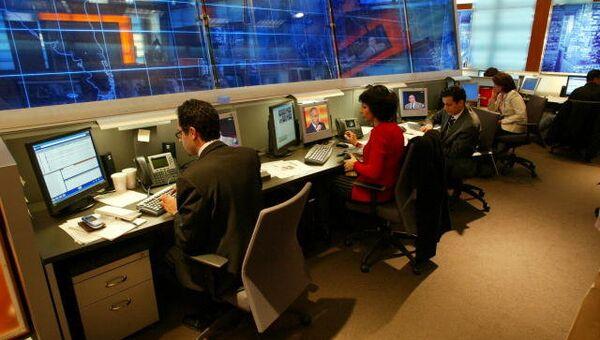 Ньюсрум в офисе BBG (Broadcasting Board of Governors). Архивное фото