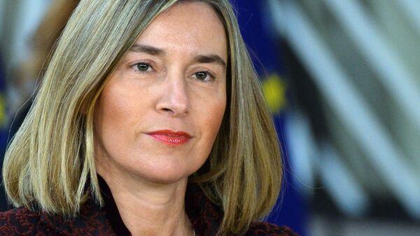 Верховный представитель ЕС по внешней политике Федерика Могерини на саммите ЕС в Брюсселе. 22 марта 2018