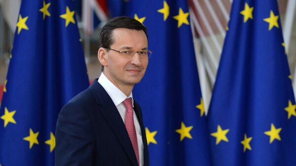 Премьер-министр Польши Матеуш Моравецкий. Архивное фото