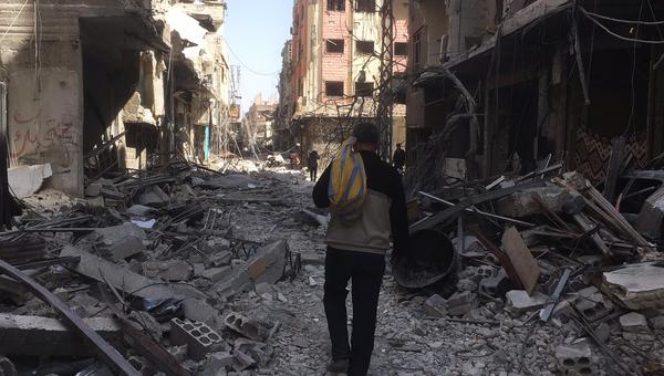 Освобожденный населенный пункт Сакба в Восточной Гуте, Сирия. Архивное фото