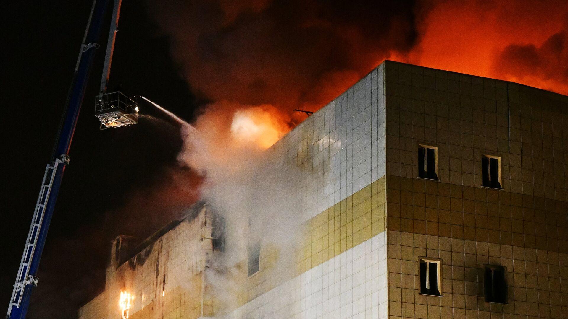 Пожар в торговом центре «Зимняя вишня» в Кемерово  - РИА Новости, 1920, 25.03.2019