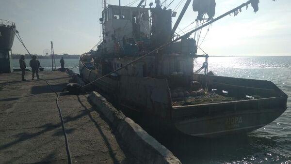 Задержанное в украинской части территориальных вод Азовского моря рыболовецкое судно Норд. 26 марта 2018