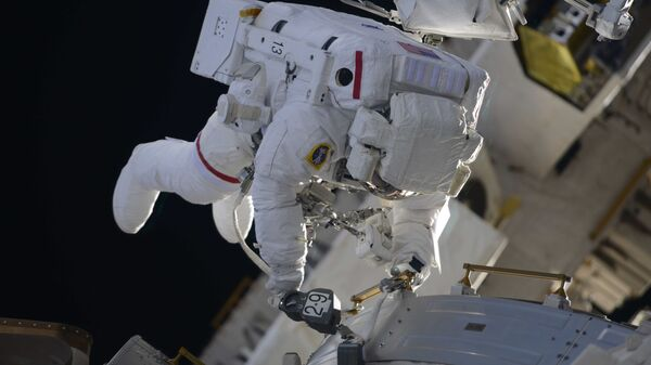 Выход в открытый космос астронавтов НАСА. Архивное фото
