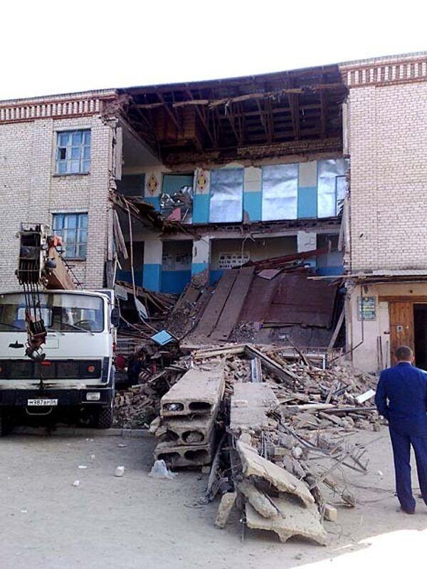 Обрушение школы в Оренбургской области