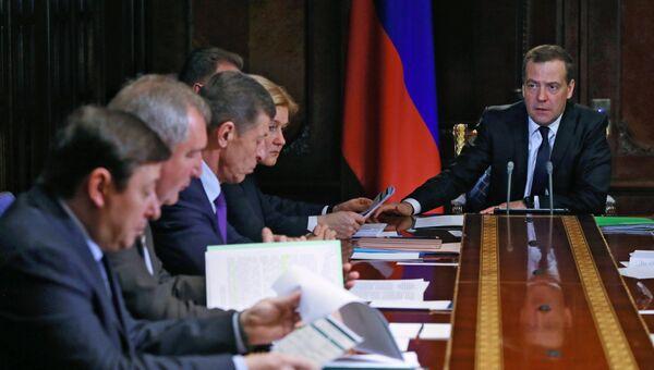Дмитрий Медведев проводит совещание с вице-премьерами РФ. 2 апреля 2018