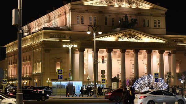 Здание Государственного Академического Большого театра в Москве. Архивное фото