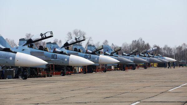Многоцелевые истребители на соревнованиях военных летчиков
