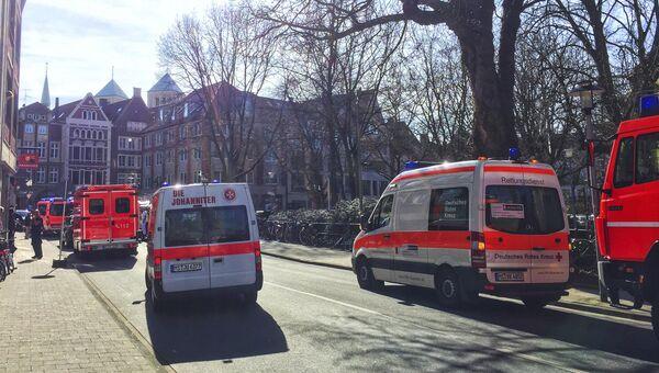 Машины скорой помощи в центре Мюнстера, где произошел теракт. Архивное фото