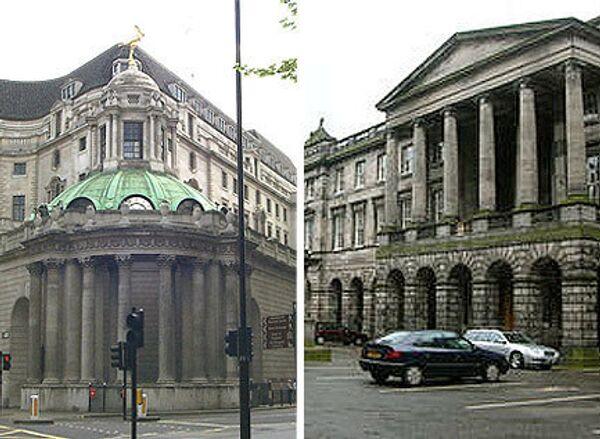 Здание Банка Англии и Парламента Англии