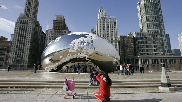 Скульптура Клауд-Гейт в Чикаго