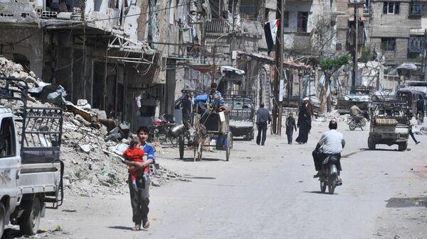 Пригород Дамаска Дума. Архивное фото
