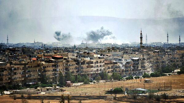 Населенный пункт к югу от Дамаска