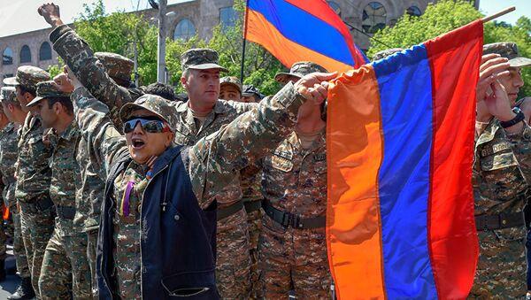 Акция протеста в Ереване. 23 апреля 2018