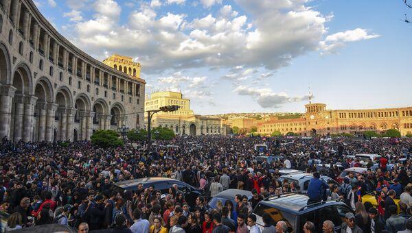 Митинг в Ереване. Архивное фото