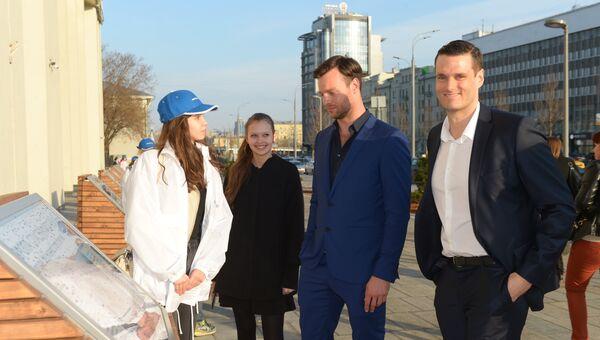 Актеры Собибора посетили выставку Освобождение Европы