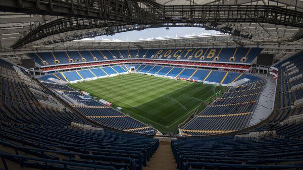На футбольном стадионе Ростов Арена