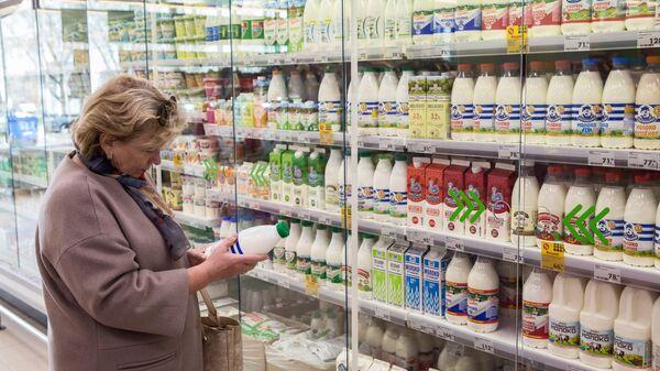 Покупательница в магазине Пятерочка