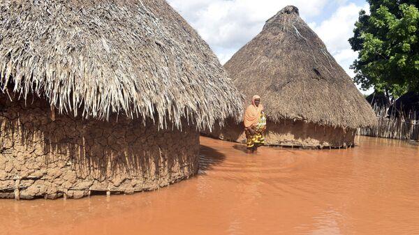 Затопленные дома в Кении