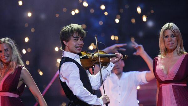 Участник музыкального конкурса Евровидение-2009 Александр Рыбак (Норвегия) на репетиции второго полуфинала конкурса в СК Олимпийский