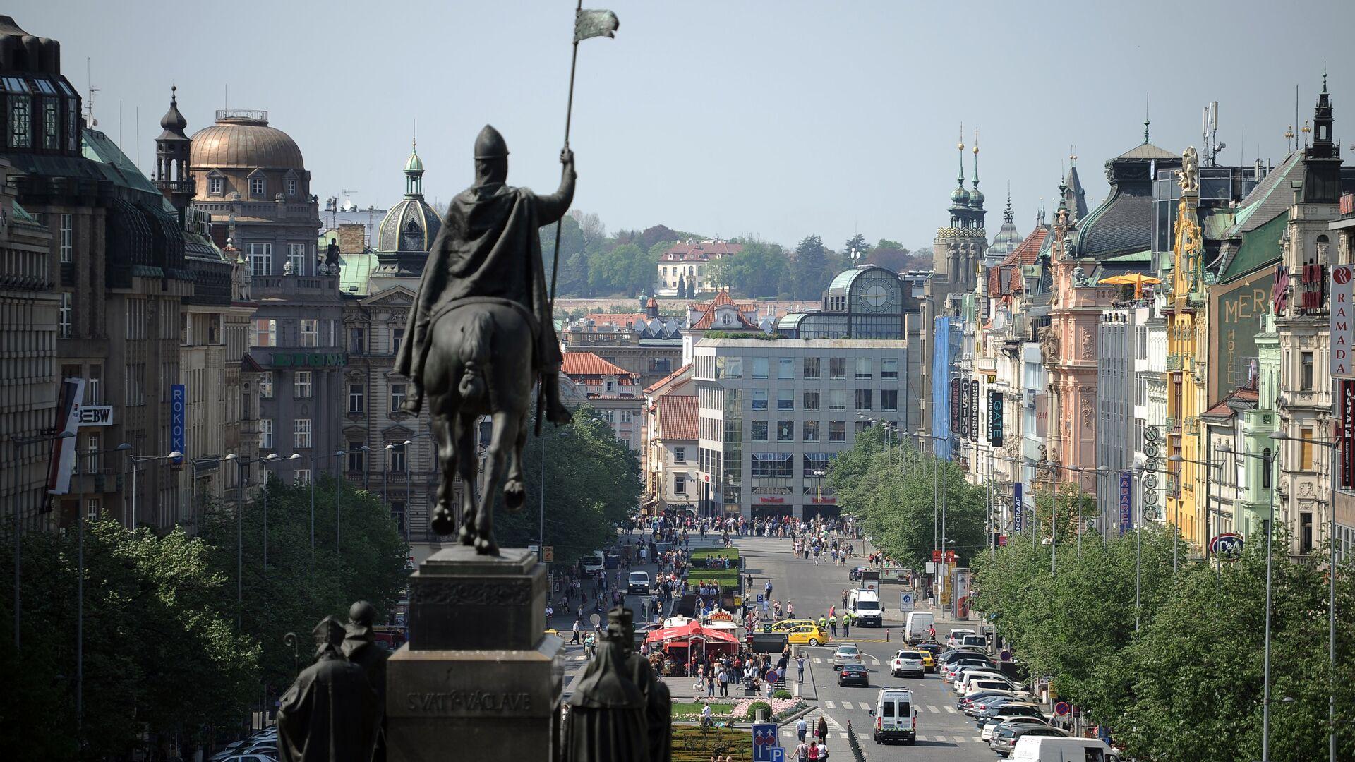 Вид на Вацлавскую площадь в Праге - РИА Новости, 1920, 07.05.2021