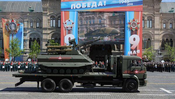 Роботизированный комплекс Уран-9 на военном параде, посвященном 73-й годовщине Победы в ВОВ