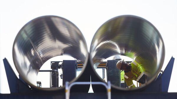 Трубы для строительства трубопровода Северный поток - 2 в финском городе Котка