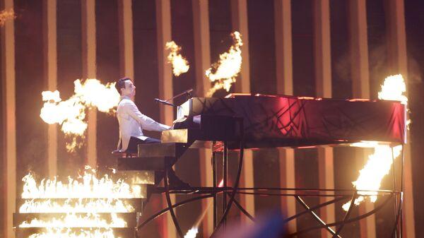 Участник из Украины Melovin в финале конкурса Евровидение. 12 мая 2018