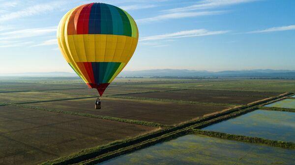 Воздушный шар на фестивале воздухоплавания Абинская Ривьера в Абинском районе Краснодарского края