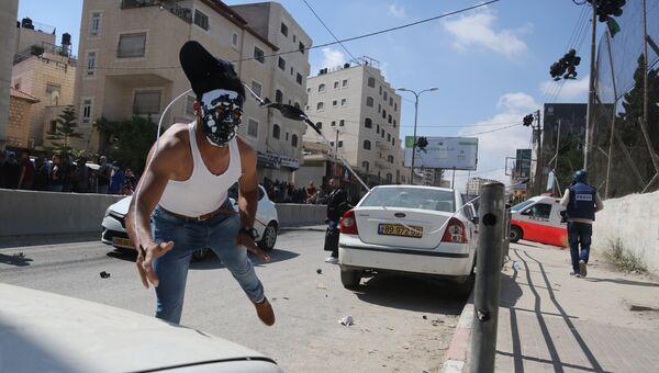 Уличные протесты в Палестине против переноса посольства США в Иерусалим. 14 мая 2018