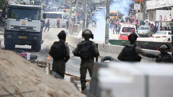 Уличные протесты в Палестине. Архивное фото