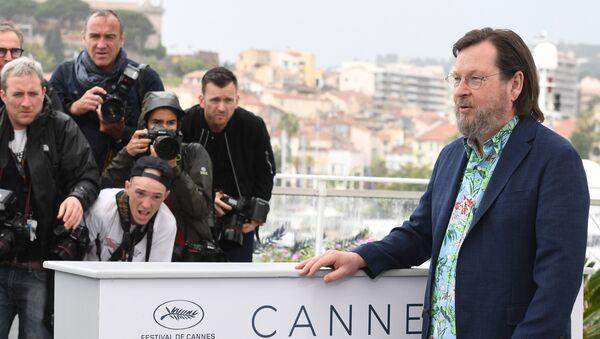 Режиссер Ларс фон Триер на фотосессии фильма The House That Jack Built в рамках 71-го Каннского международного фестиваля