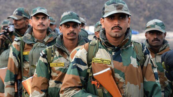 Военнослужащие Индии на международных российско-индийских учениях Индра - 2017