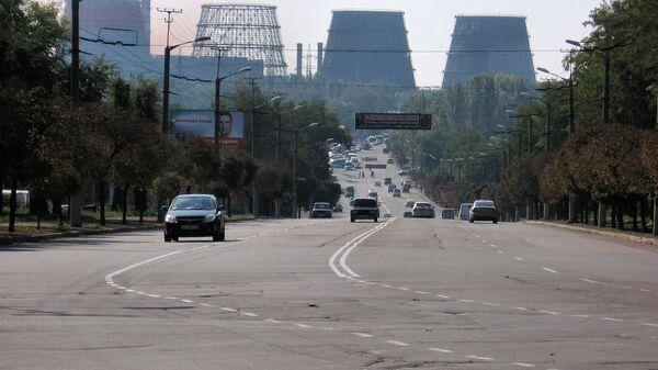 Вид на металлургический комбинат АрселорМиттал Кривой Рог, Украина