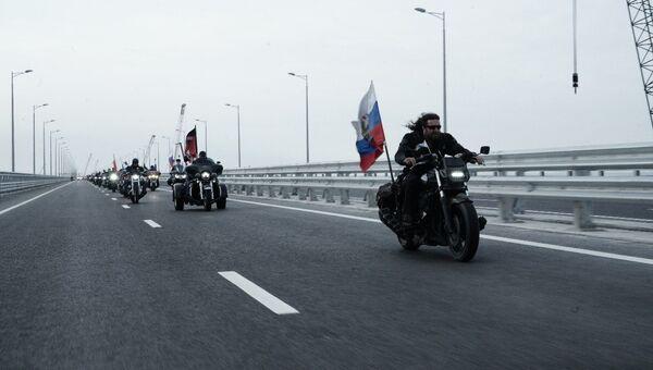 Байкер Хирург на Крымском мосту