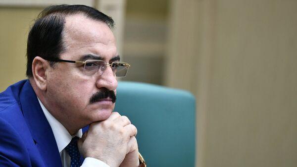 Чрезвычайный и Полномочный посол Сирийской Арабской Республики в Российской Федерации Рияд Хаддад на заседании Совета Федерации РФ