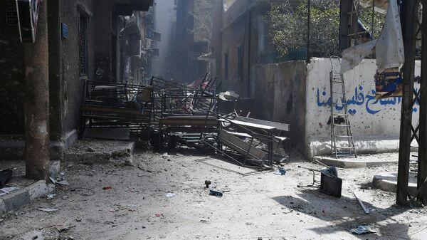 Позиции боевиков на юге Дамаска