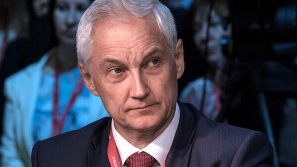 Помощник Президента Российской Федерации Андрей Белоусов на Петербургском международном экономическом форуме. 25 мая 2018