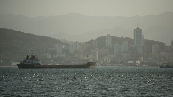 Вид с набережной на корабли в акватории Вонсана