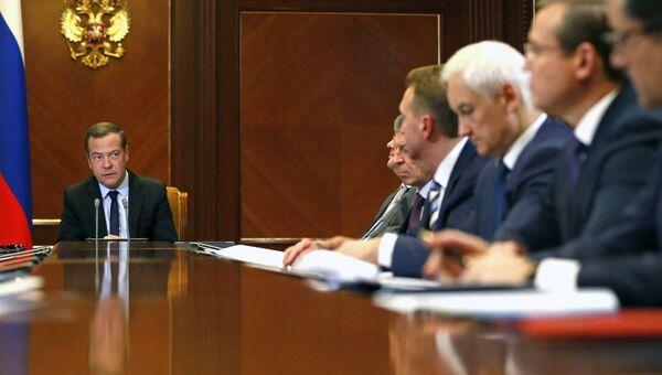 Дмитрий Медведев проводит заседание Наблюдательного совета Внешэкономбанка. 29 мая 2018