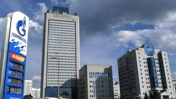 Здание компании Газпром в Москве
