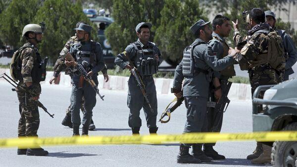 Сотрудники правоохранительных органов в Кабуле