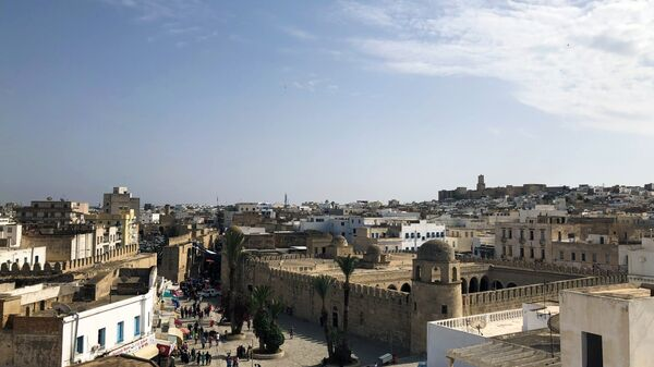 Вид на старую часть города Сус, Тунис